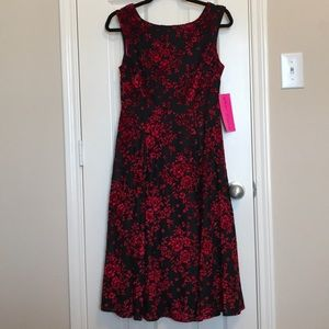 NWT Betsey Johnson Black Crimson Dress ❤️🖤